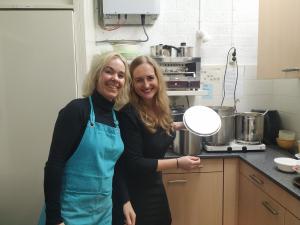 I&A, een regionaal vermaard merk. Irma en Anita, samen met Ruud (v.d.Laan) de soep(smaak)makers 2020 van HTC.